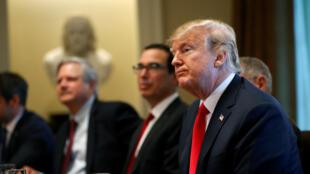 Trump durante uma reunião no 20 de Junho sobre a sua política de imigração.