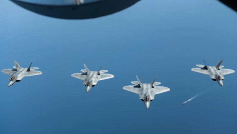 美空军派25架F-22至西太平洋 美在澳洲首次试射爱国者导弹 美空军派25架F-22至西太平洋 美在澳洲首次试射爱国者导弹