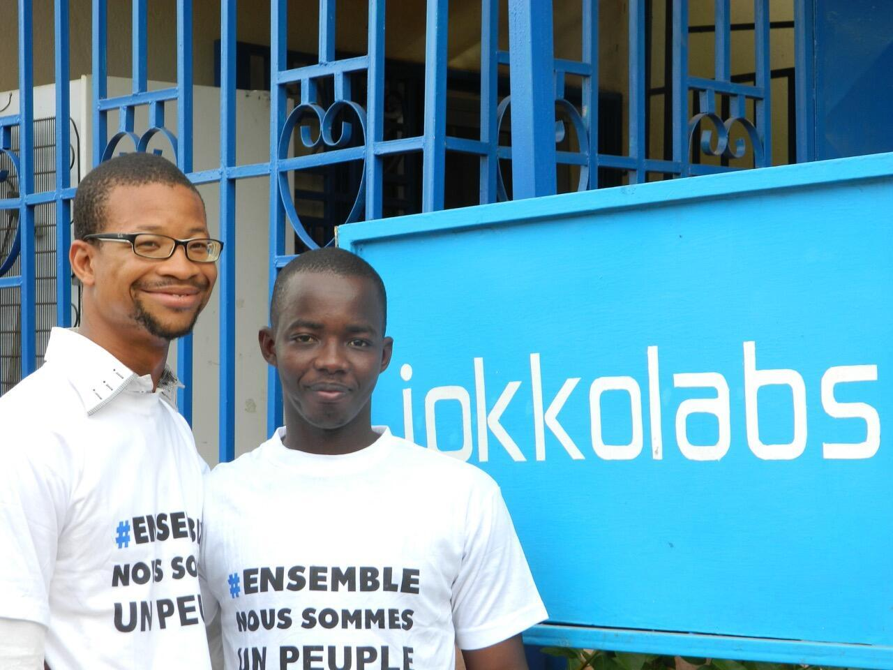 Jokkolabs Bamako workers Alou Dolo and Arboncana Touré in happier times