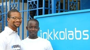 Jokkolabs Bamako workers Alou Dolo and Arboncana Touré in happier times