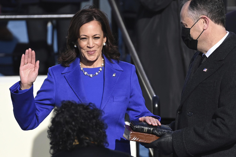 Kamala Harris juró como vice presidente de EEUU. Miércoles 20 de enero de 2021.