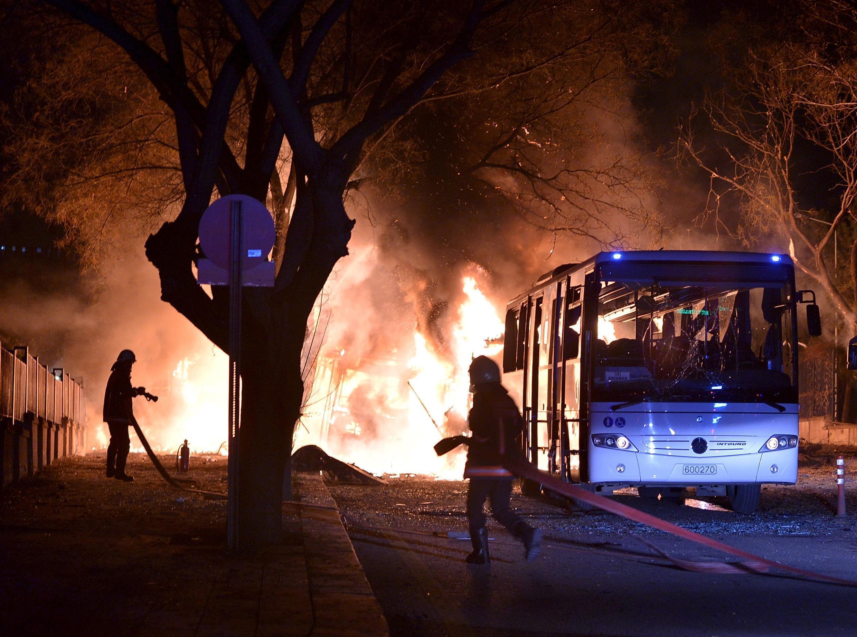 Теракт в центре Анкары вечером 17 февраля 2016.