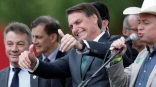 El presidente brasileño Jair Bolsonaro, el 21 de noviembre de 2019 en Brasilia para el lanzamiento de su nuevo partido.