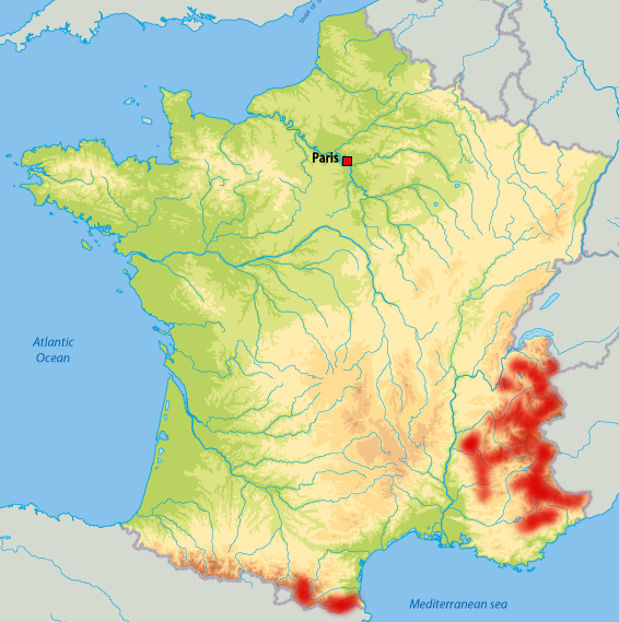 Where are wolves in France?