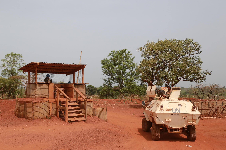 Une patrouille de la Minusca à Bambari, en mars 2016.