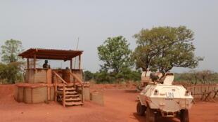 Une patrouille de la Minusca à Bambari, le 31 mars 2016.