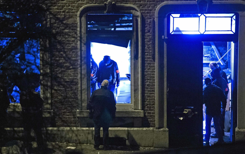 La police est intervenue contre des jihadistes de retour de Syrie, le 15 janvier 2015, à Verviers en Belgique.