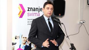 Le nouveau ministre de la Défense serbe, Aleksandar Vulin.