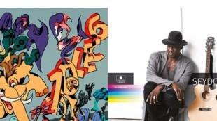 Couverture des albums de 10LEC6 «Bone Bame» et de Seydou Boro «Hôrôn».