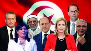 'Yan takarar neman kujerar shugabancin kasa a Tunisia