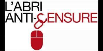 """""""Антицензурное убежище"""", эмблема кампании """"Репортеров без границ"""" за свободу в Интернете"""