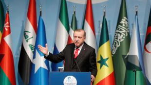 رجب طیب اردوغان به عنوان رئیس دورهای سازمان همکاری اسلامی سخنرانی کرد