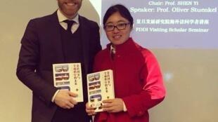 O professor de Economia da FGV, Oliver Stuenkel, durante lançamento de seu livro em Pequim.