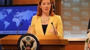 jennifer -psaki سخنگوی وزارت خارجه آمریکا
