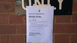 Mot d'ordre de grève des infirmières de l'hôpital de Bulawayo au Zimbabwe, le 20 avril 2018.