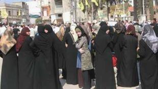 Mujeres chiitas en Markaba, sur del Líbano.