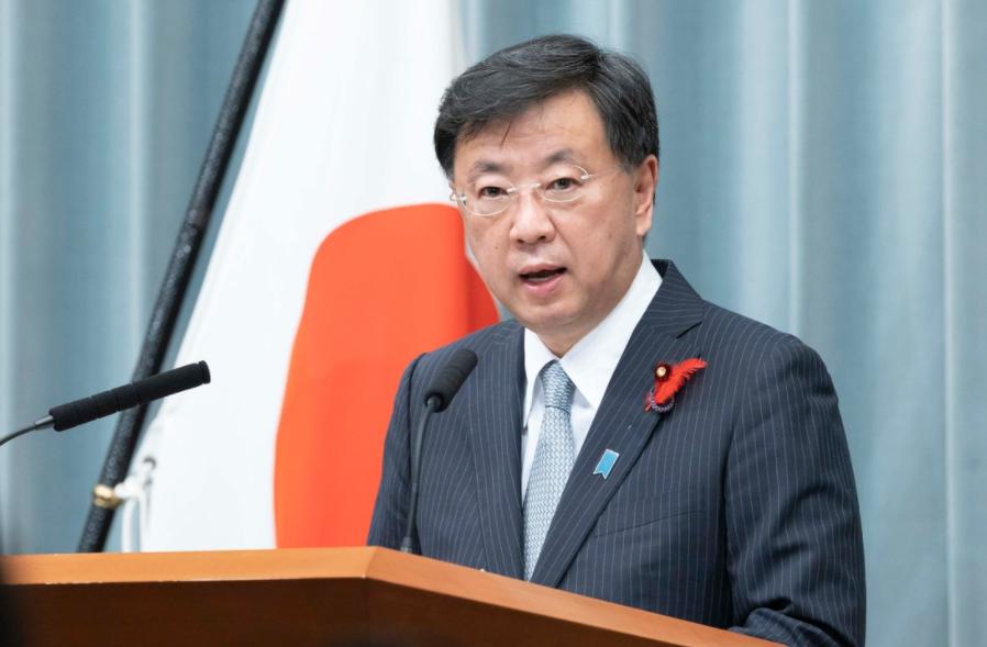 日本內閣官房長官松野博一資料圖片