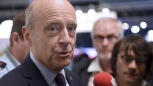 Alain Juppé, candidato de Bordeaux y favorito de las primarias de la derecha, 22 septiembre 2016.