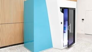 O Sombox é um pequeno quarto para descansar em aeroportos