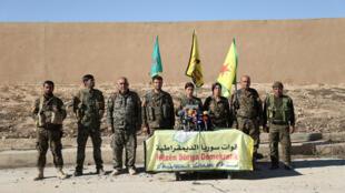 Membros  das Forças  Democráticas Sírias. 06 de Novembro de 2016