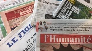 Primeiras páginas dos diários franceses de 06/06/19.