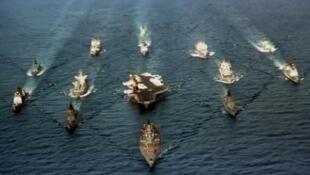 美国第五舰队 航母战斗群 资料照片