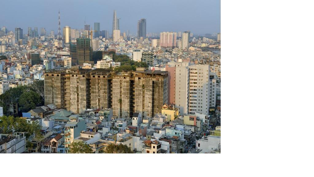 Khu chung cư President Hotel - Sài Gòn . (RFI chụp lại từ http://www.collectifargos.com)
