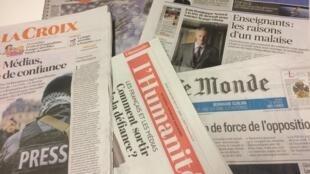 Primeiras páginas dos jornais franceses de 24 de janeiro de 2019