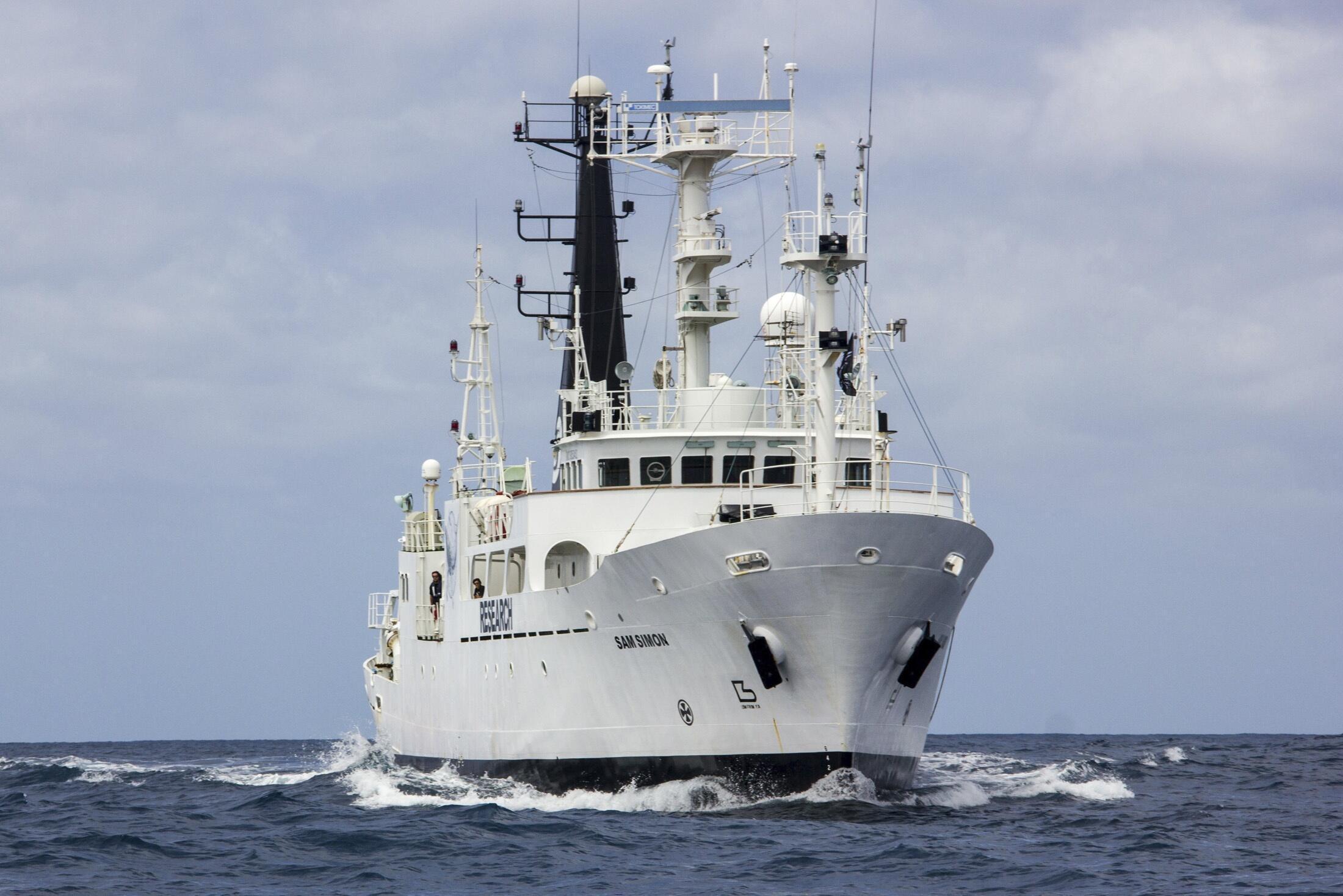 L'un des quatre navires déployés par Sea Shepherd pour traquer les chasseurs de baleines.