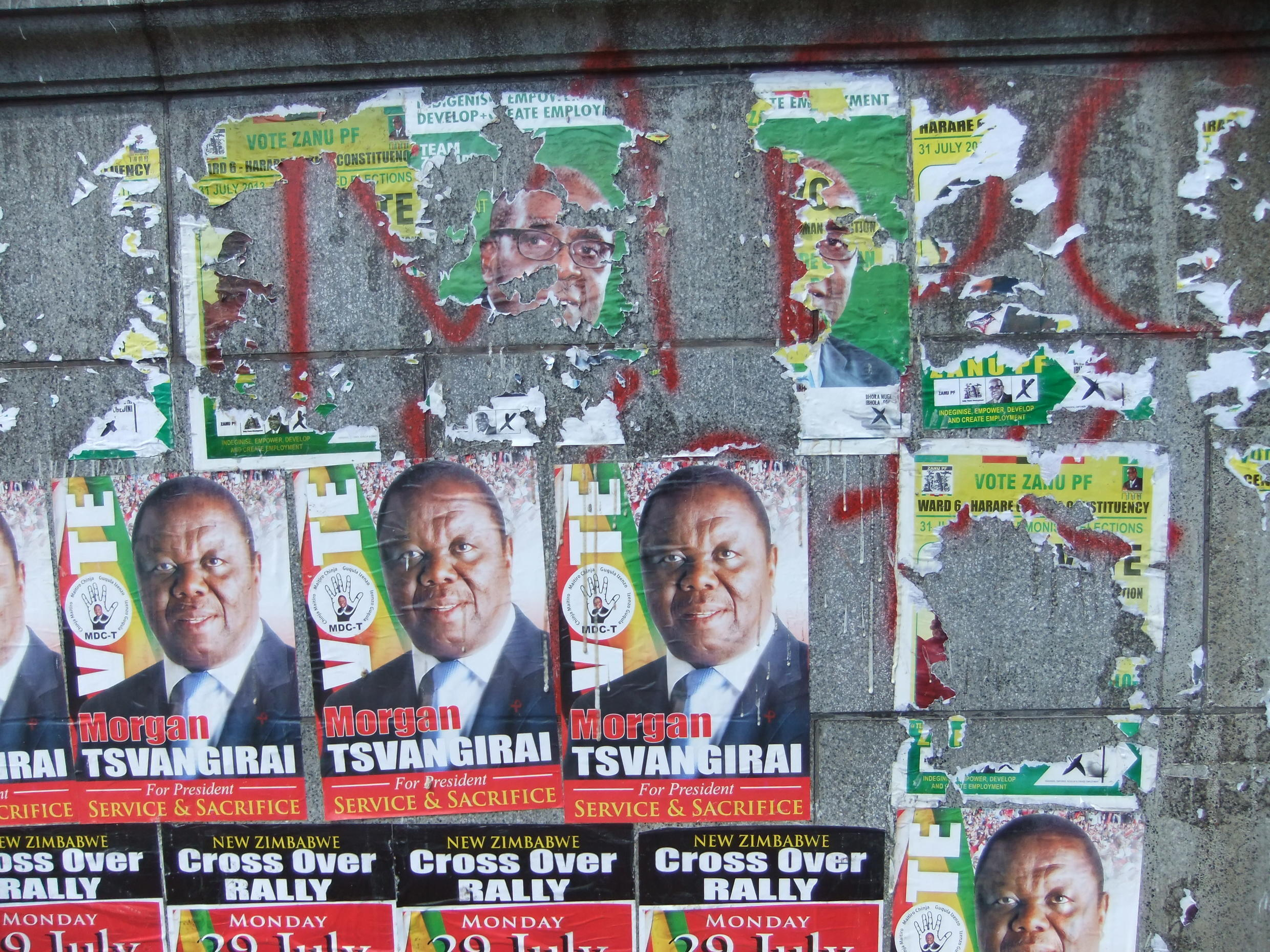 Campaign posters in Harare