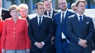 法德比卢4国领袖把酒言欢  梅被抛在一边