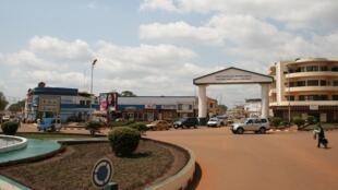 Vue du centre-ville de Bangui.