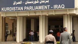 Le Parlement kurde, à Erbil, le 29 octobre 2017.