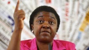 A ministra italiana da Integração Cecile Kyenge, vítima de racismo do vice-presidente do Senado