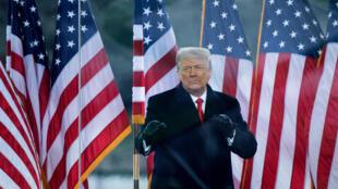 Donald Trump durante un discurso ante sus seguidores el 6 de enero de 2021, justo antes del asalto al Congreso en Washington