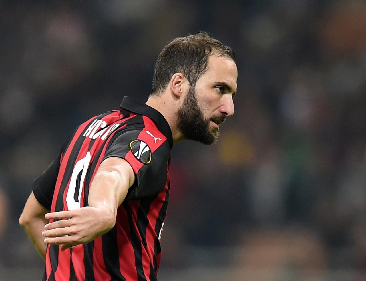 Gonzalo Higuain dan kungiyar AC Milan da ke shirin komawa Chelsea.