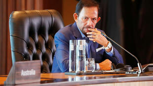 El sultán Hassanal Bolkiah de Brunei. Foto del 18/11/18.
