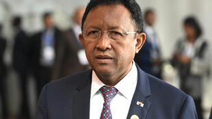 Le président malgache Hery Rajaonarimampianina le 29 janvier 2018 à Addis-Abeba.