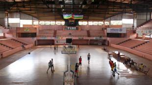 Le palais omnisports de Bangui où s'entrainent les basketteurs centrafricains.