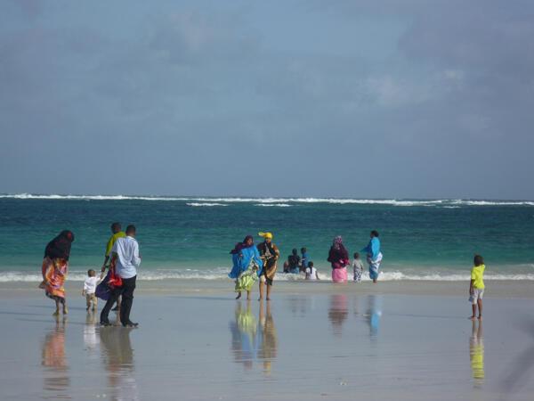 La plage du Lido à Mogadiscio.