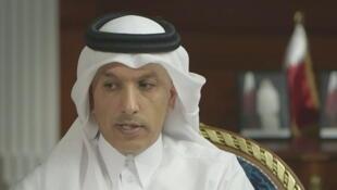 علی شریف العمادی، وزیر دارایی قطر، در گفتوگو با شبکه تلویزیونی آمریکایی سیانبیسی