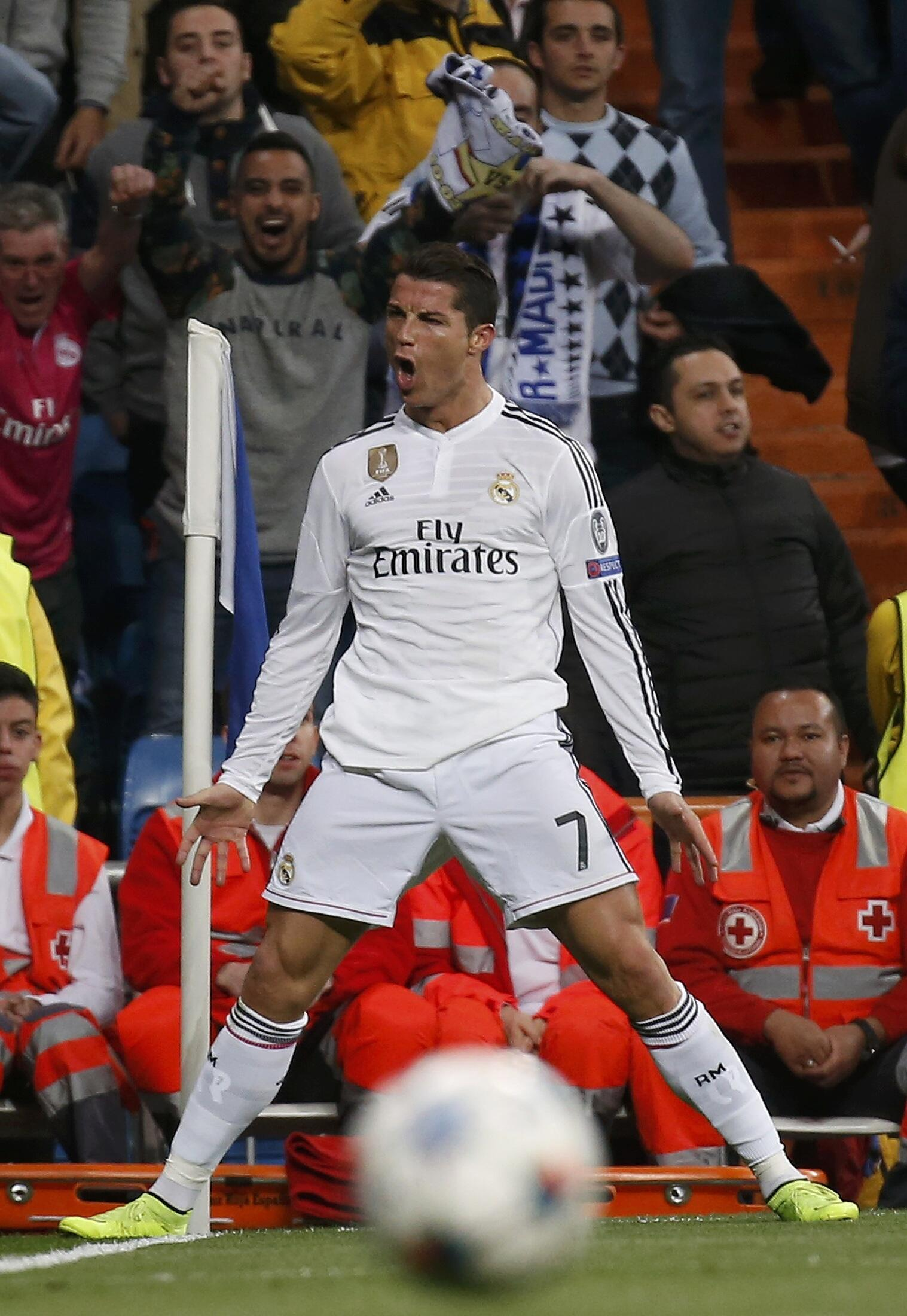 Cristiano Ronaldo warmed up for the Champions League clash against Juventus by scoring a hat trick on Saturday night against Sevilla in La Liga.