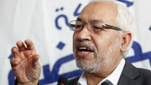 Rached Ghannouchi, le chef d'Ennahda, le parti islamiste au pouvoir.
