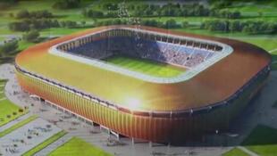 Maquette du nouveau stade omnisports de Port-Gentil, au Gabon (Capture d'écran).