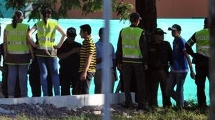 Miembros del ERPAC llegando a Villavicencio el 22 de diciembre de 2011.
