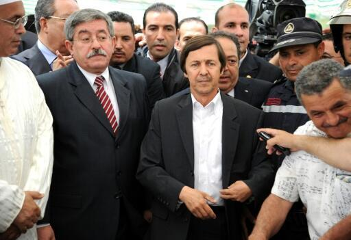 Said Bouteflika (C,no tie) was once seen as the real power behind his brother Abdelaziz Bouteflika's rule in Algeria