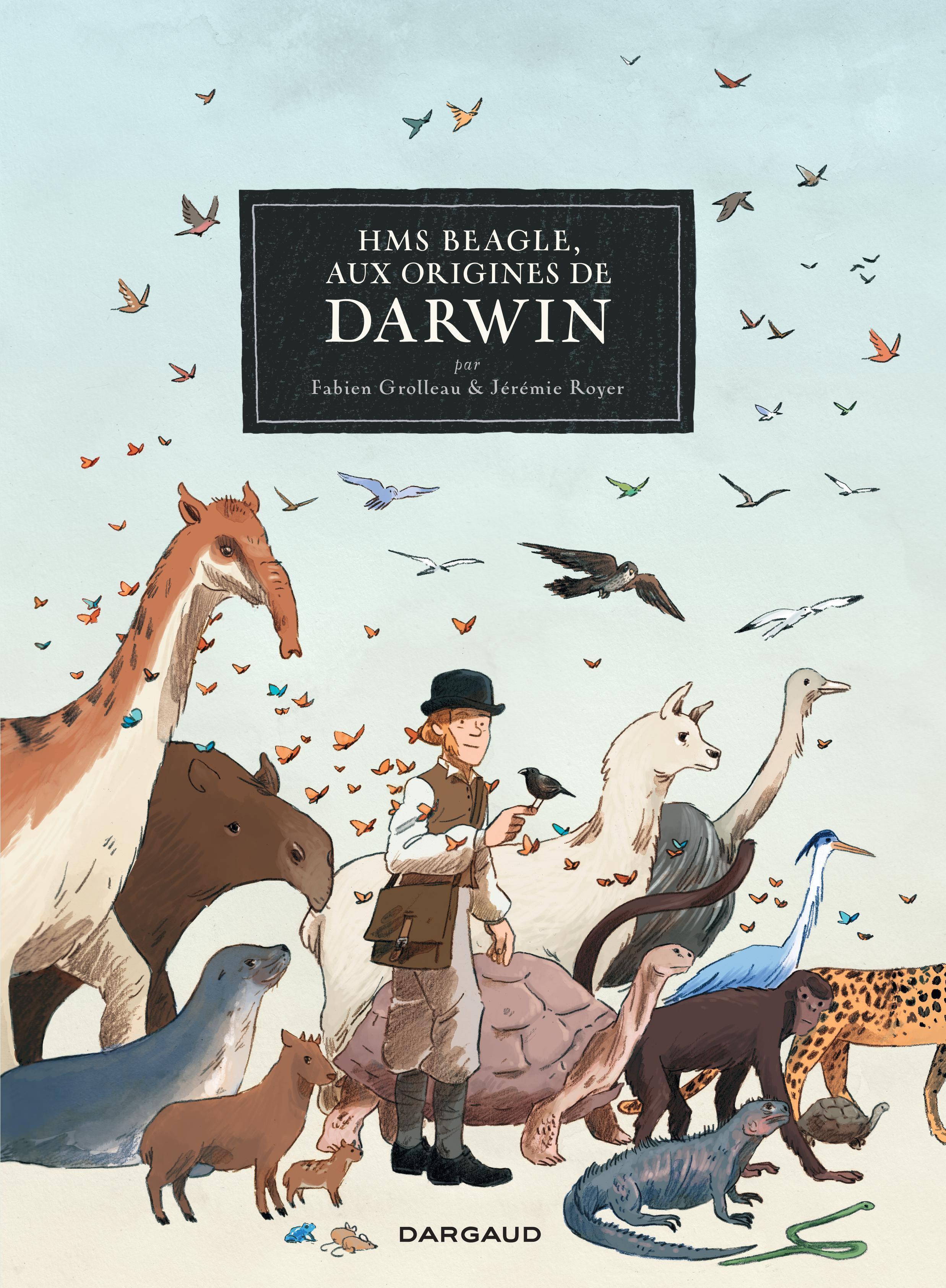 Couverture de la bande dessinée «HMS Beagle, aux origines de Darwin» de Fabien Grolleau et Jérémie Royer.