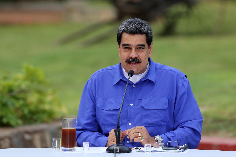 El presidente de Venezuela, Nicolás Maduro, durante una alocución televisada desde la sede de gobierno en Caracas, el 22 de junio de 2020