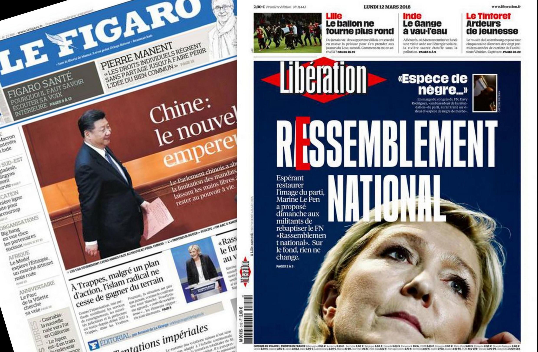 Los periódicos franceses comentan la estrategia de Marine Le Pen y el cambio de nombre del partido.