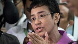 La journaliste philippine Maria Ressa, en janvier 2018.